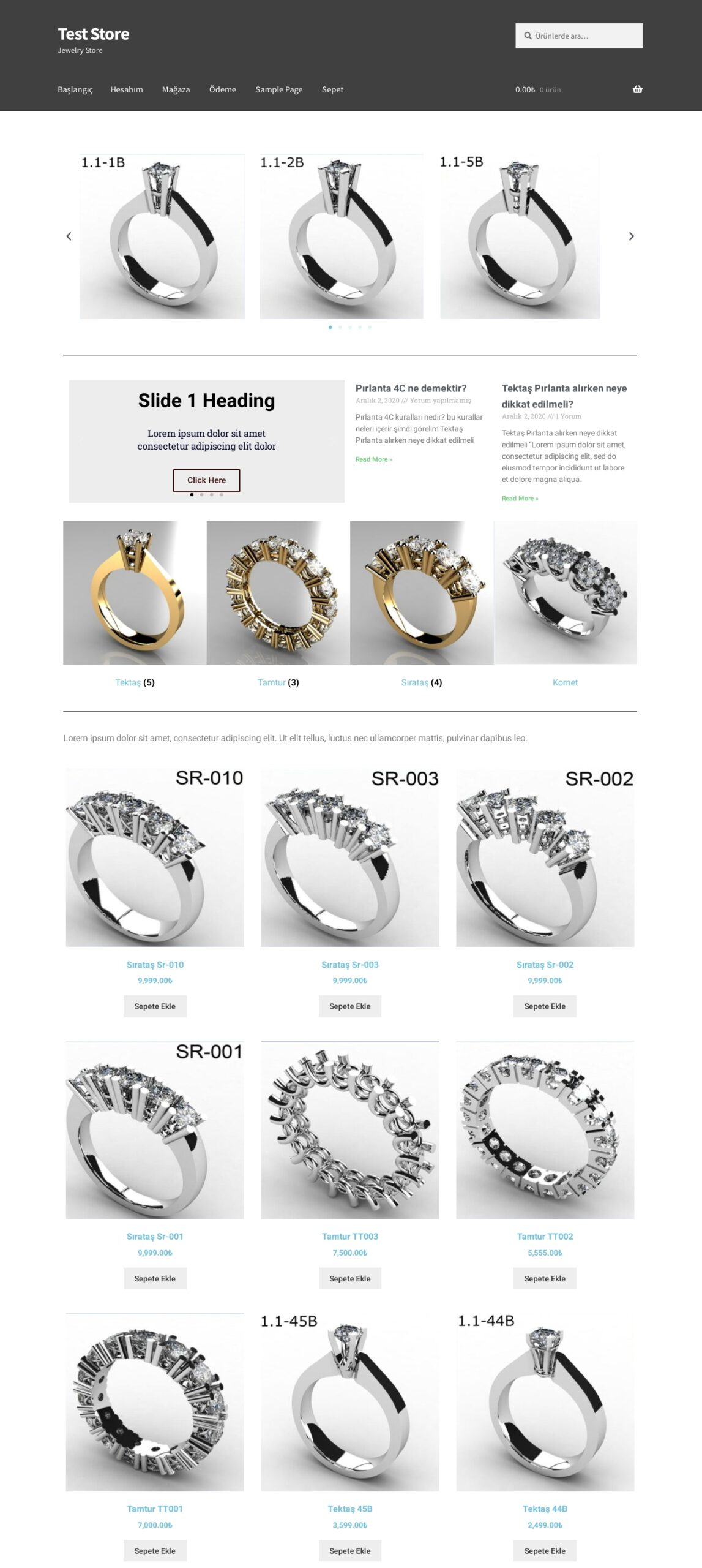 Test Store – Jewelry Store-